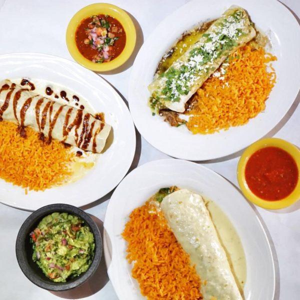 Three Burritos with Salsa